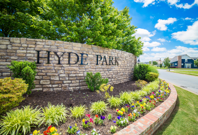 Hyde Park subdivision with new homes in Cave Springs Arkansas